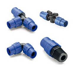 Зажимные фитинги для трубы Д16 стенка 1,1-1,2 мм на повышенное давление до 12 атм
